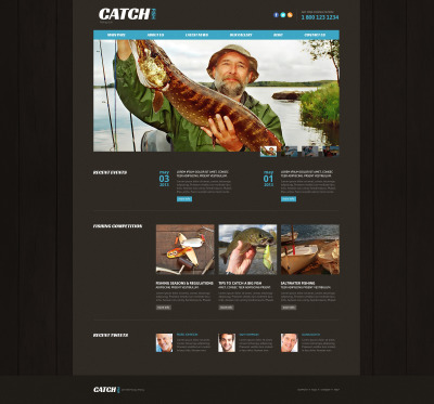 Fishing Responsive Joomla Sablon