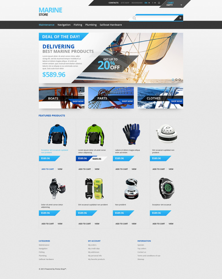 Tech Gear PrestaShop Theme New Screenshots BIG