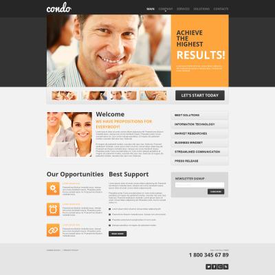 Marketing Agency Tema Moto CMS HTML