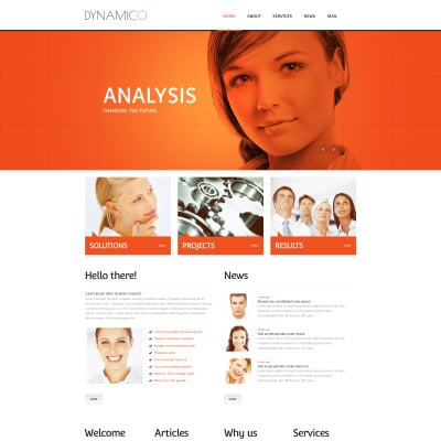 Marketing Agency Tema Moto CMS HTML