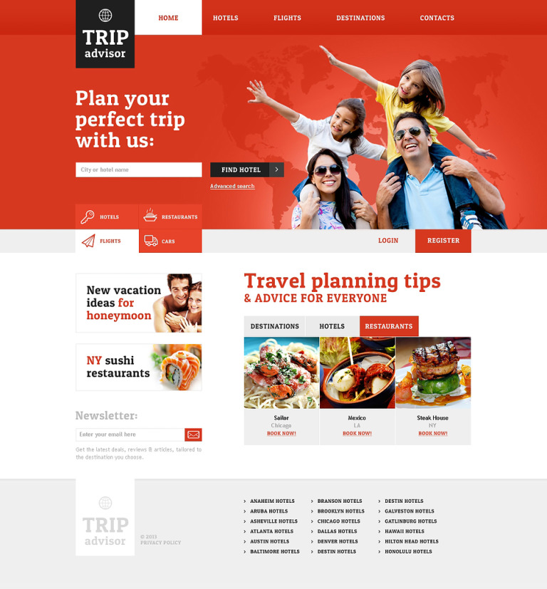 Travel Guide Responsive Website Template New Screenshots BIG