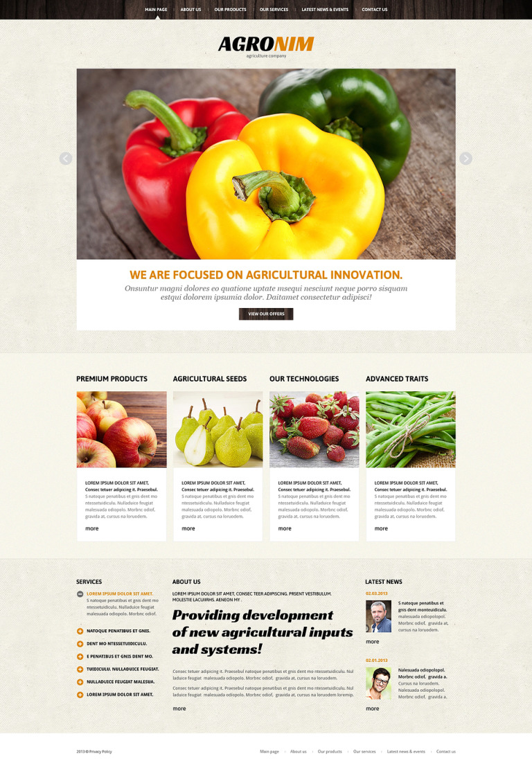 Vegetable Responsive Joomla Template New Screenshots BIG