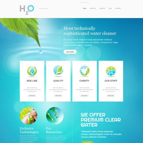 H2O - Responsive Joomla! Template