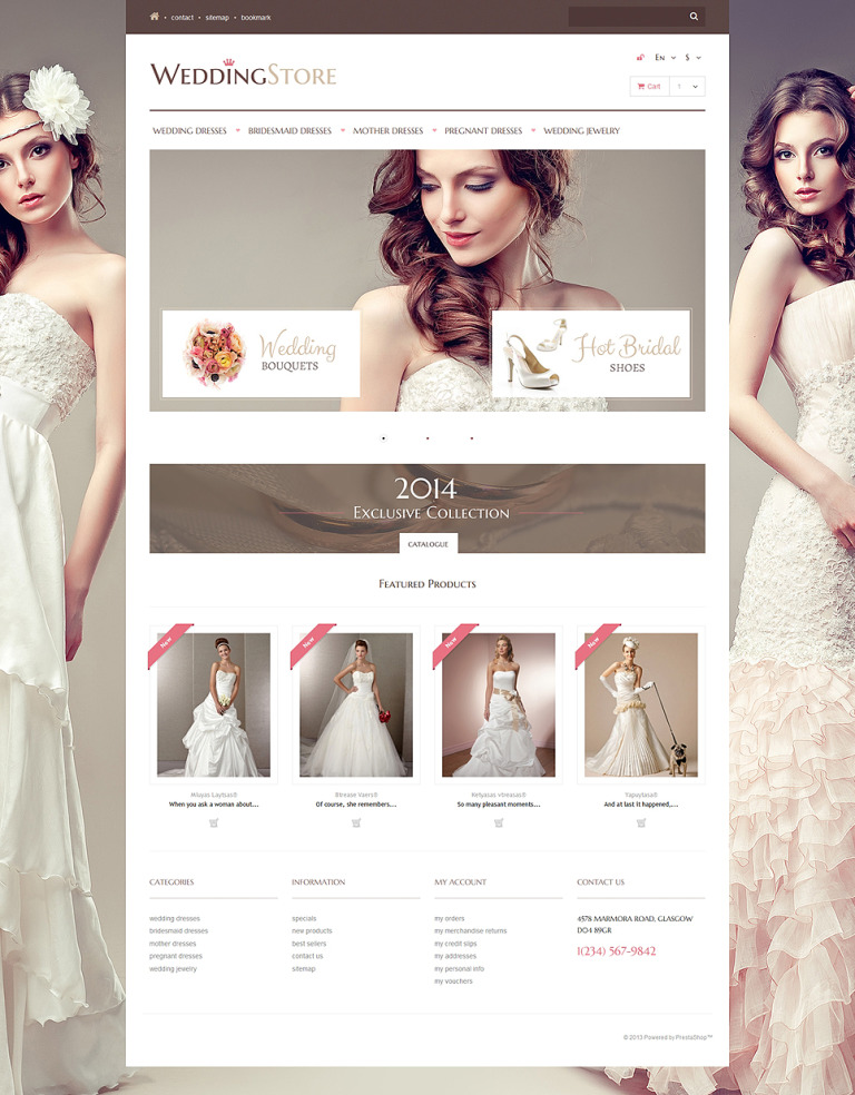 Wedding Store PrestaShop Theme New Screenshots BIG
