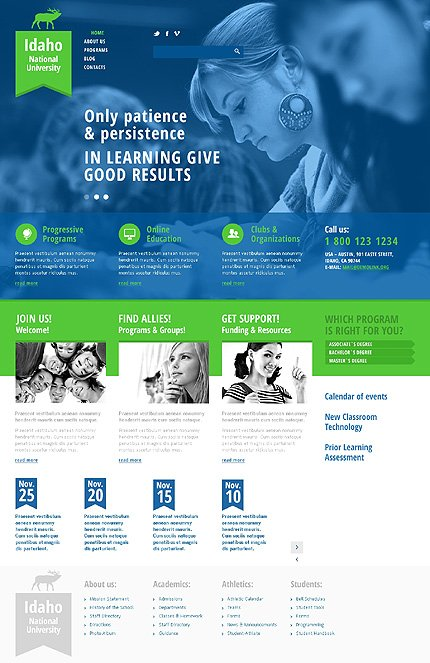Joomla Theme/Template 47507 Main Page Screenshot