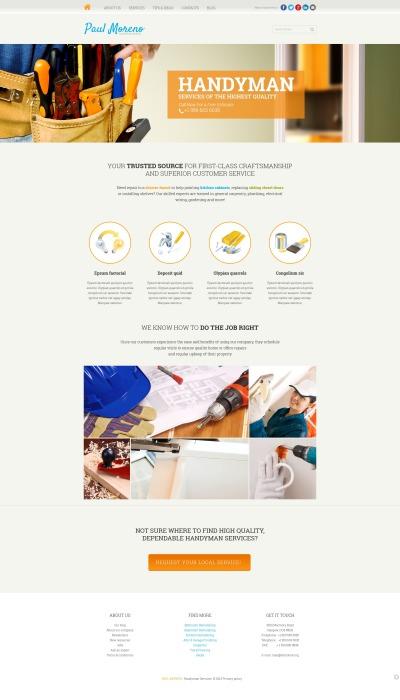 Reparation i hemmet Responsivt Joomla-mall