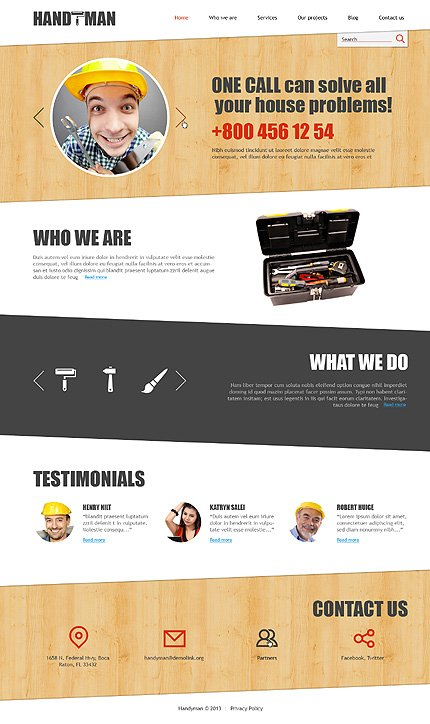 Joomla Theme/Template 47510 Main Page Screenshot