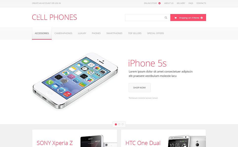 VirtueMart Template over Mobiele winkel New Screenshots BIG