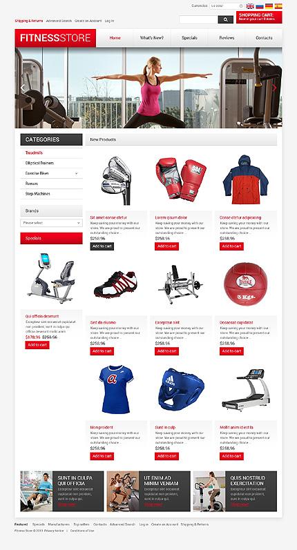 osCommerce Template 47520 Main Page Screenshot
