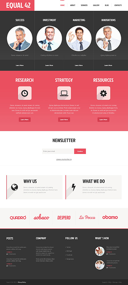 WordPress Theme/Template 47528 Main Page Screenshot