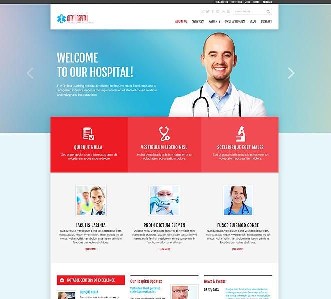Responzivní WordPress motiv na téma Zdravotní New Screenshots BIG