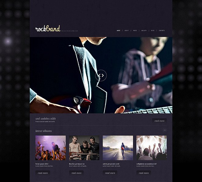 Responsive WordPress thema over Muziekgroup  New Screenshots BIG