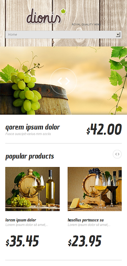WordPress Theme/Template 47541 Main Page Screenshot