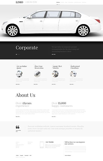 WordPress Theme/Template 47542 Main Page Screenshot