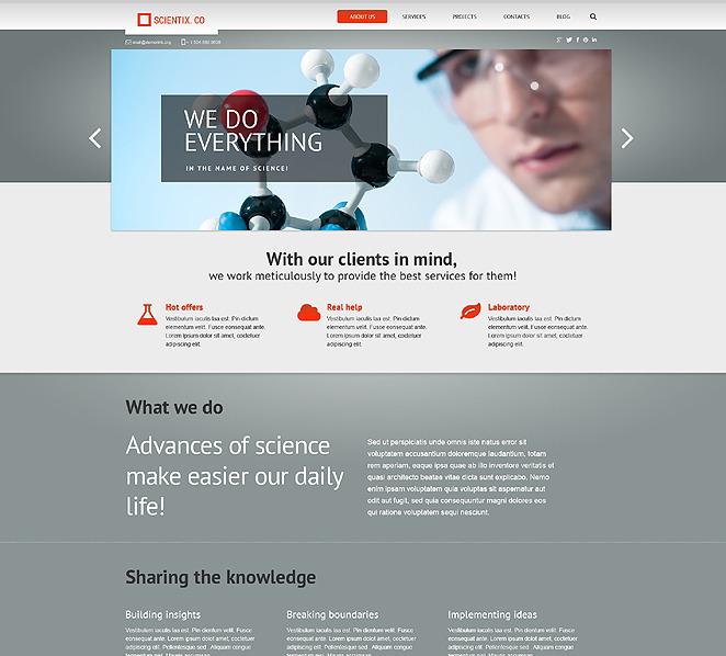 Responsywny motyw WordPress #47543 na temat: laboratorium naukowe New Screenshots BIG