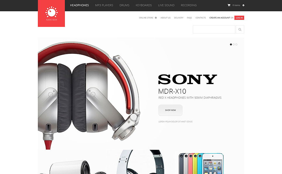 Template VirtueMart para Sites de Loja de Áudio №47544 New Screenshots BIG