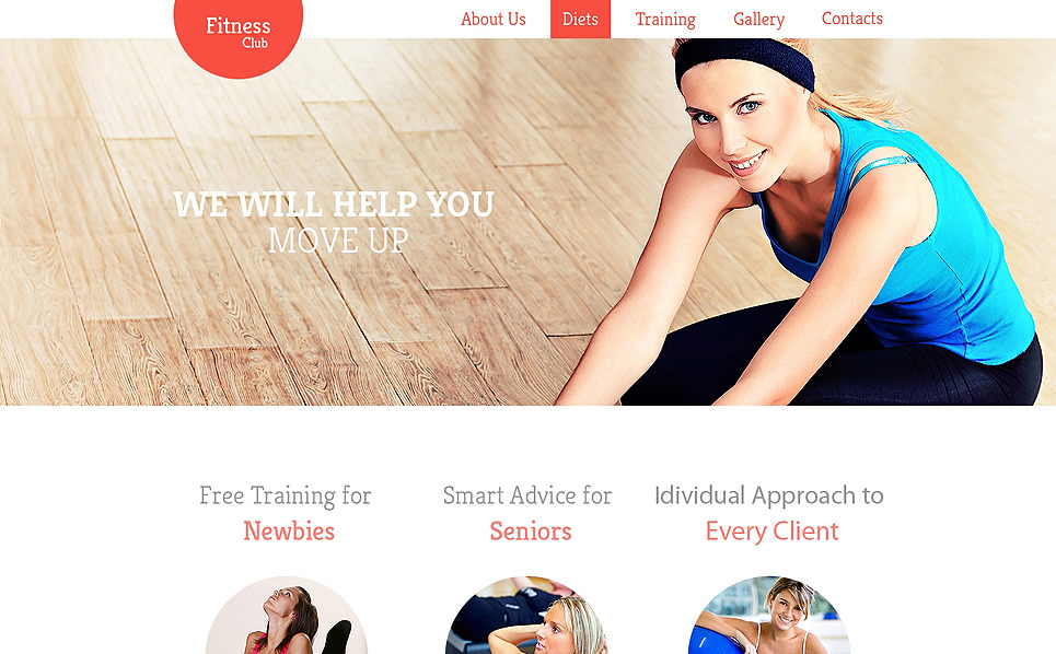 Modello Siti Web Responsive #47546 per Un Sito di Fitness New Screenshots BIG