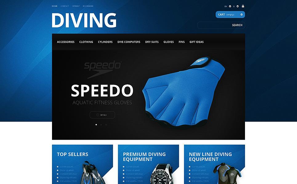 Responzivní PrestaShop motiv na téma Potápění New Screenshots BIG