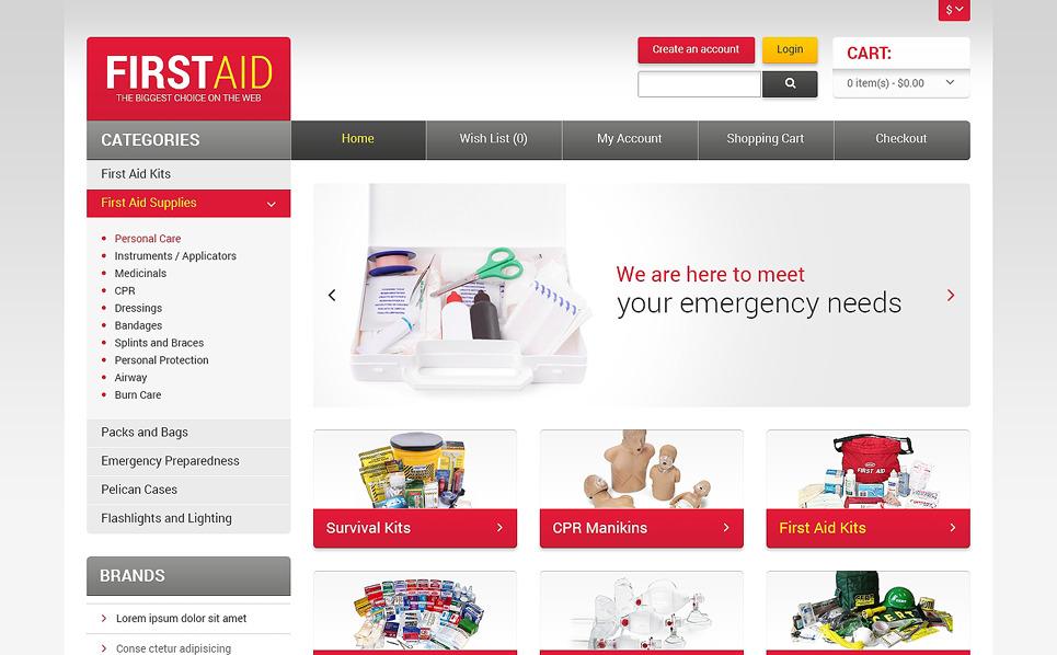 """Plantilla OpenCart """"Tienda de Accesorios de Primeros Auxilios"""" New Screenshots BIG"""