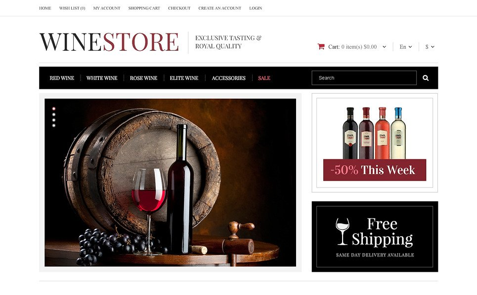Plantilla OpenCart Responsive para Sitio de Vino New Screenshots BIG