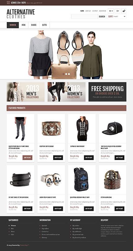 osCommerce Template 47560 Main Page Screenshot