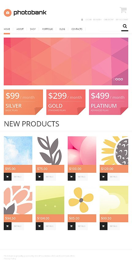 ADOBE Photoshop Template 47562 Home Page Screenshot