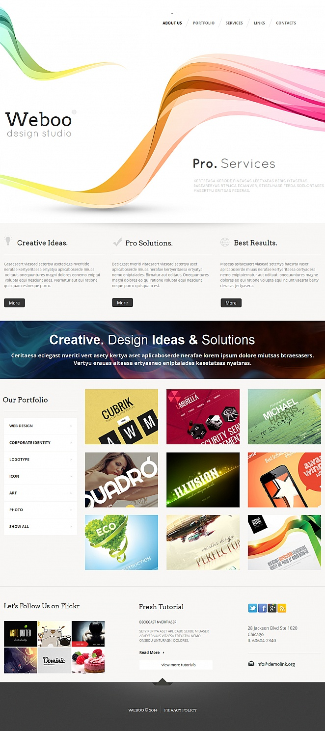 Clean Web Design Portfolio Template with a Grid Gallery - image
