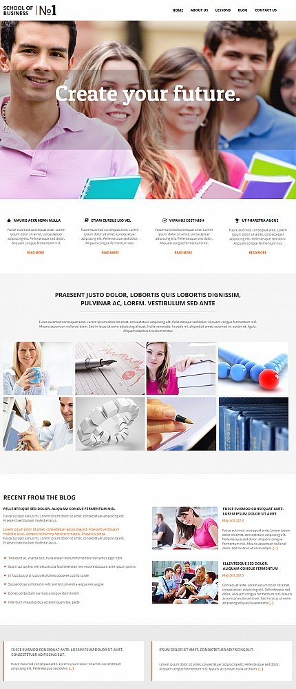 ADOBE Photoshop Template 47565 Home Page Screenshot