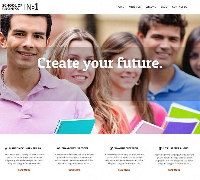Plantilla Moto CMS HTML #47565 para Sitio de Escuela de comercio New Screenshots BIG