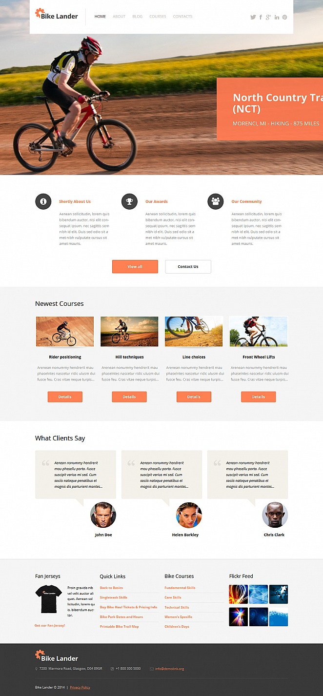 Lander Cycling Website Template - image