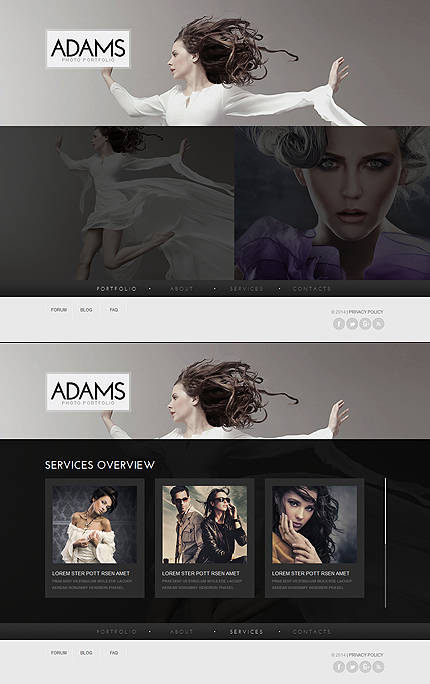 ADOBE Photoshop Template 47567 Home Page Screenshot