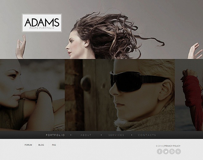 Szablon Moto CMS HTML #47567 na temat: portfolio fotograficzne New Screenshots BIG