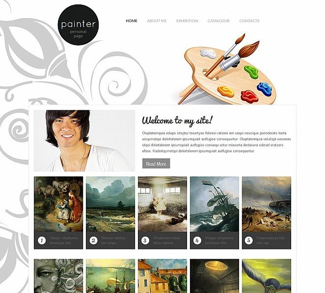 MotoCMS HTML шаблон на тему художнє портфолио New Screenshots BIG