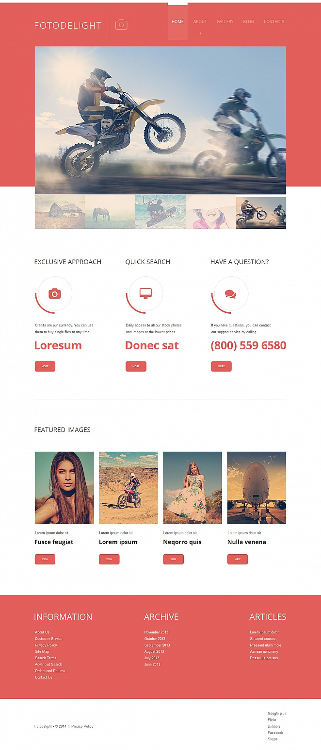 Website Template for Photography Amateurs and Professionals - image