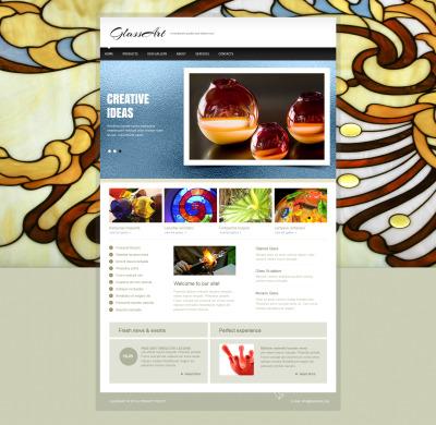 Konst Moto CMS HTML-mall