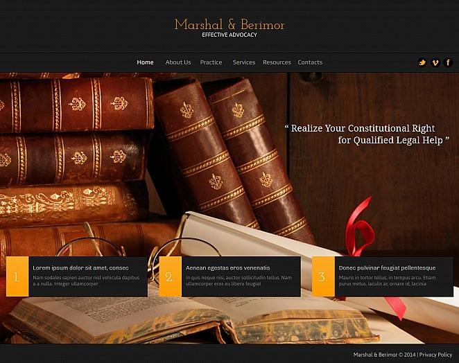 Prémium Ügyvédi Irodák Moto CMS HTML sablon New Screenshots BIG
