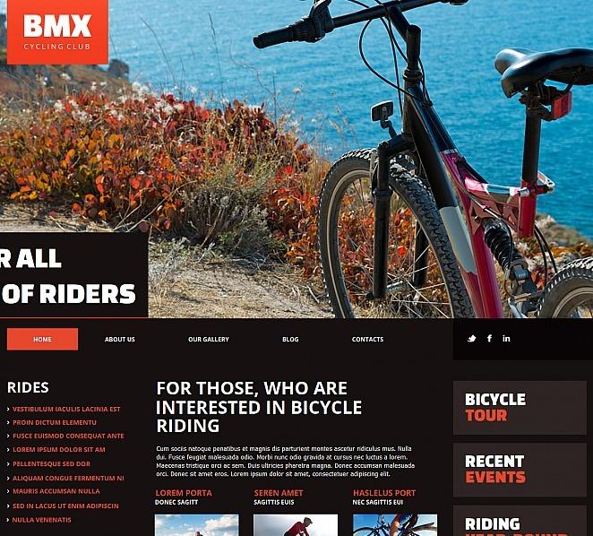 MotoCMS HTML шаблон на тему bmx New Screenshots BIG