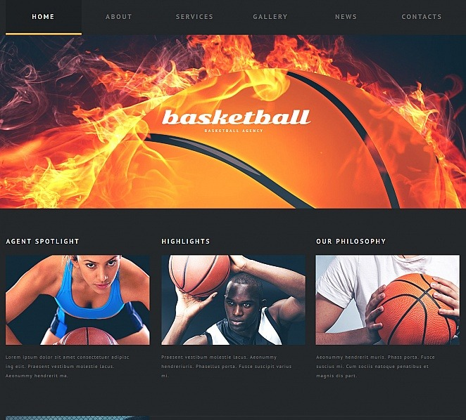 MotoCMS HTML шаблон №47580 на тему баскетбол New Screenshots BIG