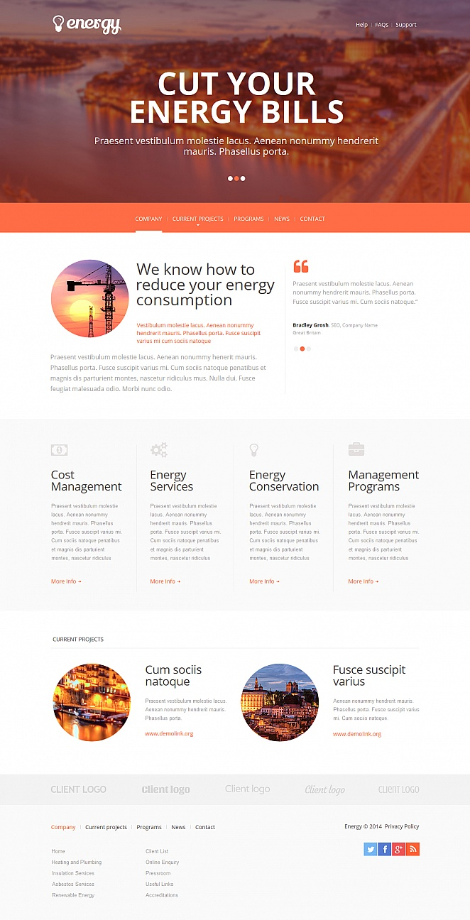 Electricity Website Template with jQuery Content Slider - image
