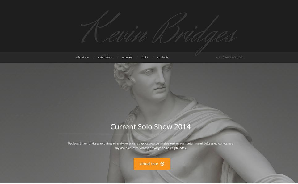 Responsive Website template over Sculptuur New Screenshots BIG