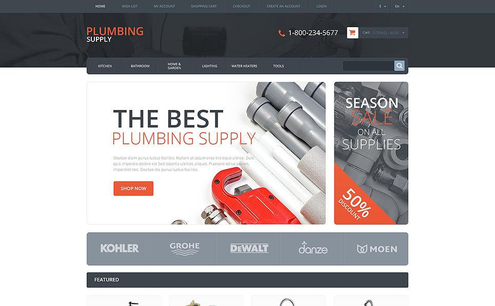 Responsive OpenCart Vorlage für Klempnerei  New Screenshots BIG