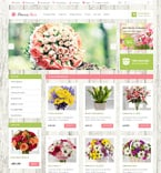 Flowers OpenCart  Template 47588