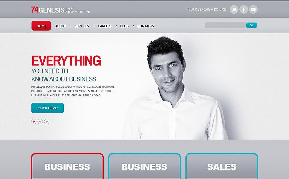Tema Siti Web Responsive #47589 per Un Sito di Servizi Commerciali New Screenshots BIG