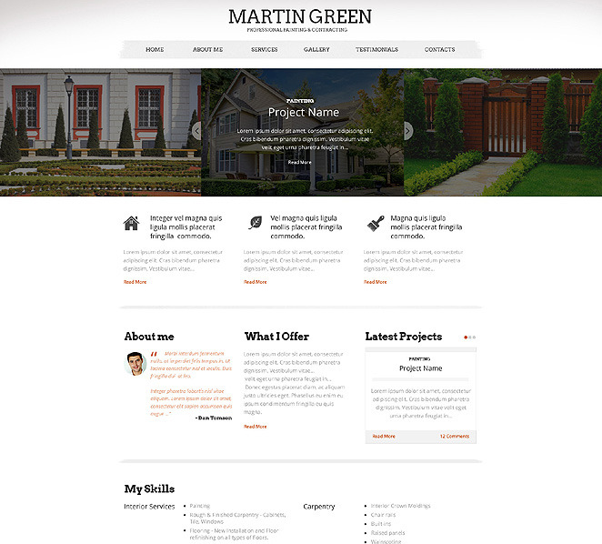 Responzivní Šablona webových stránek na téma Domácí opravy New Screenshots BIG