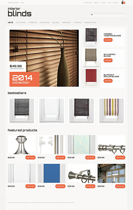 ADOBE Photoshop Template 47595 Home Page Screenshot