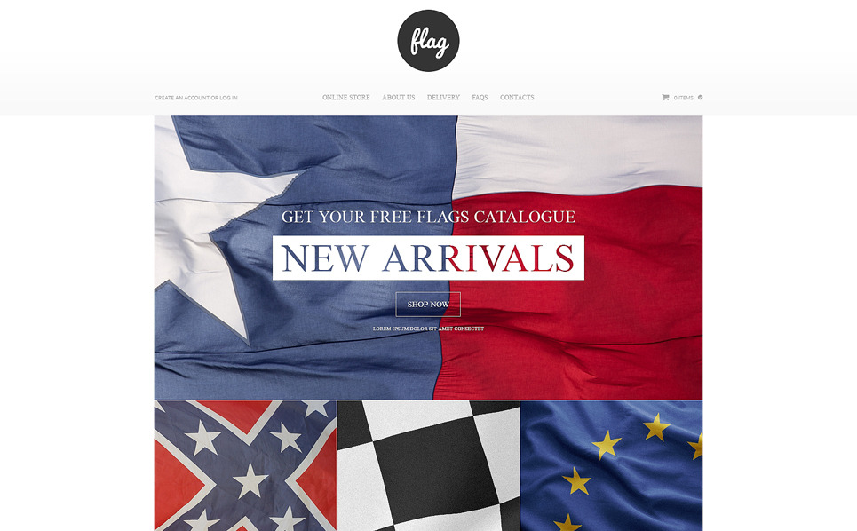 "VirtueMart Vorlage namens ""Flaggenshop "" New Screenshots BIG"