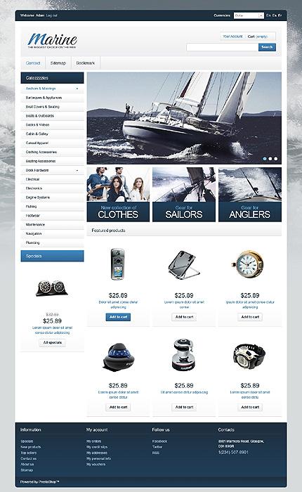 osCommerce Template 47597 Main Page Screenshot