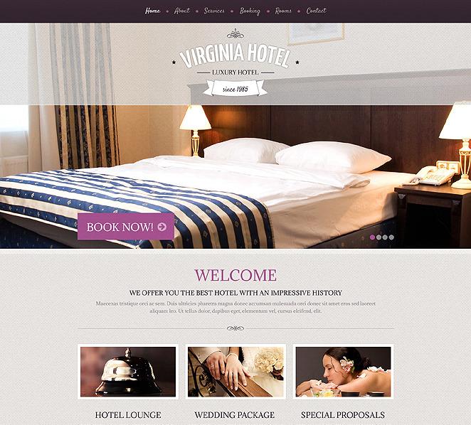 Адаптивний Шаблон сайту на тему готелі New Screenshots BIG