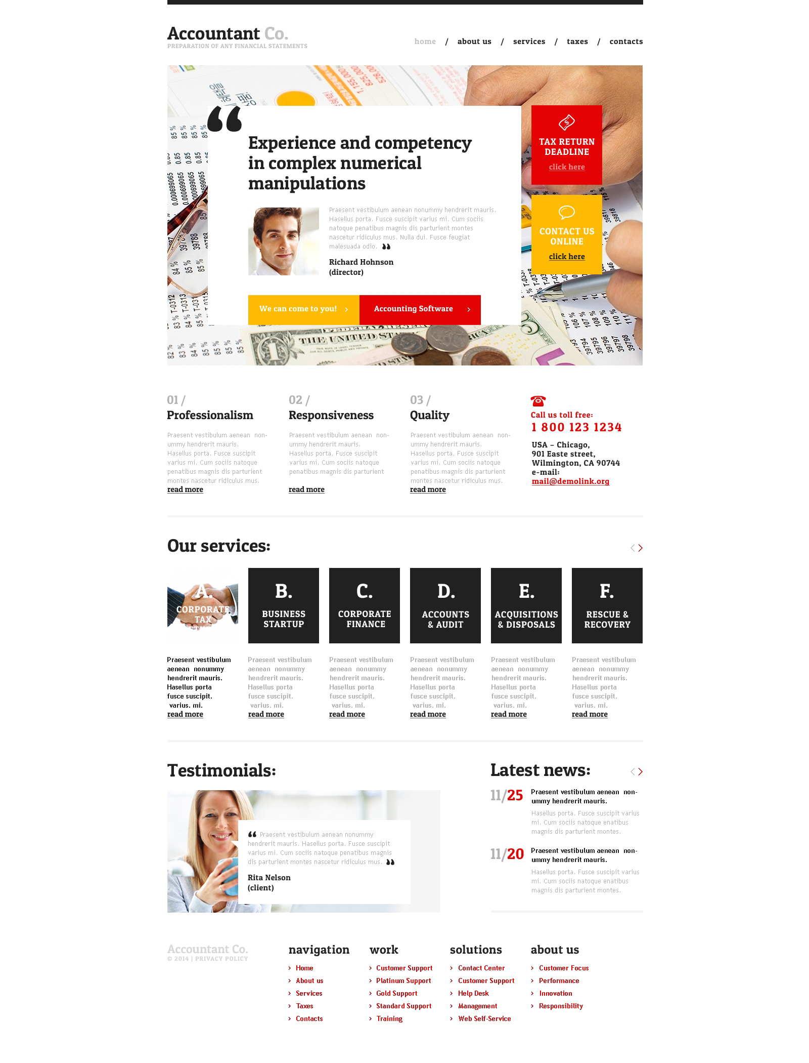 Accounting Templates, Accounting Website Templates