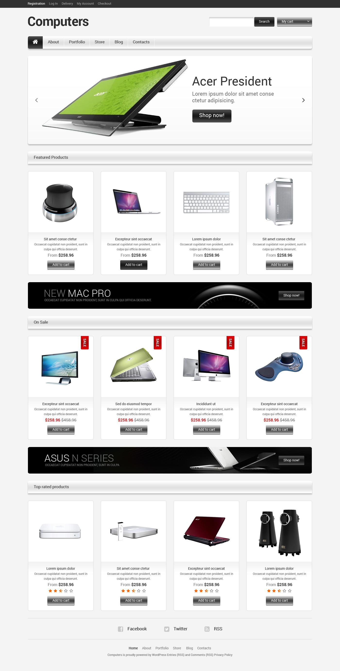Адаптивний WooCommerce шаблон на тему комп'ютери №47561 - скріншот